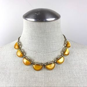 Vintage Orange & Goldtone Necklace